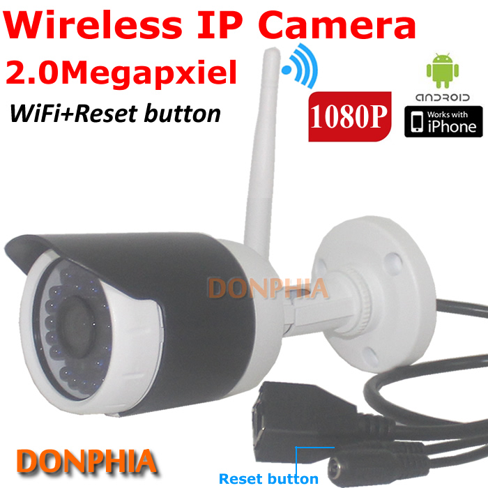 ФОТО 1080P Full HD Wireless IP Camera 2.0Mega pixel outdoor Onvif Wifi with reset button IRcut nigth vision P2P CCTV Security Camera
