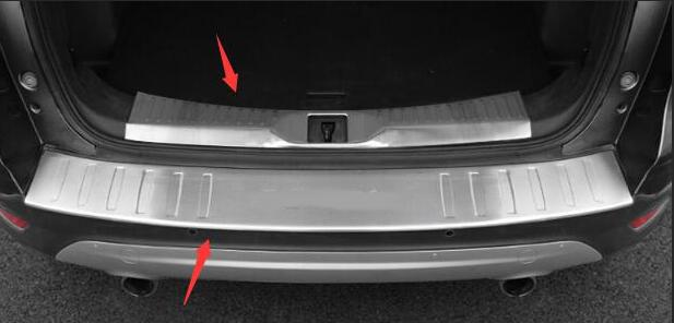 For Ford Escape Kuga 2013 2017 Rear Bumper Protector Deck Step Panel Trim Cover Trunk Boot Sill Plate Garnish