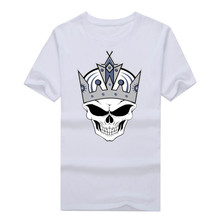 2017 new fashion Los Angeles Kings Skull Heat Transfer summer T-Shirt 100% cotton  T Shirts Men for fans