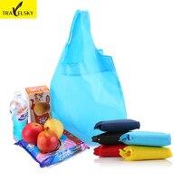 Fashion Women Bag Portable Folding Shopping Bag Large Thick Nylon Bags Foldable Bag Waterproof Ripstop 3Pcs
