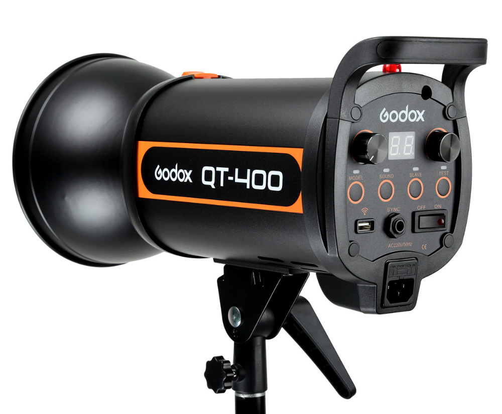 Godox 400W studio flash for photography QT400(400WS Professional studio flash light)-in Photo Studio Accessories from Consumer Electronics    1