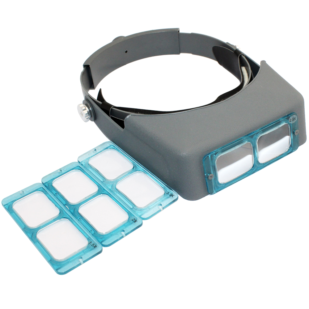 Double Lens Head-mounted Headband Reading Magnifier Loupe Head Wearing Magnifying Eye Lo ...
