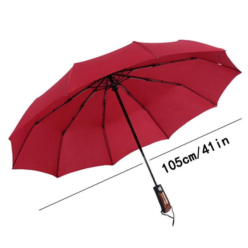 Automatic Men Umbrella Rain Women Parasol Windproof Male Folding Car Wooden Black Umbrellas Paraguas Guarda Chuva Sombrinha in Umbrellas from Home Garden