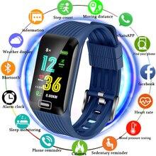 2019New Smart Sport Bracelet Men LIGE Waterproof Watch Blood Pressure Heart Rate Detection Pedometer Phone Text Message Reminder