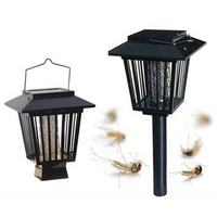 Solar Powered Insect Killer LED UV Mosquito Killer environmentally Lamp Outdoor Garden Insect Pest Bug Zapper Killer 15* 15cm