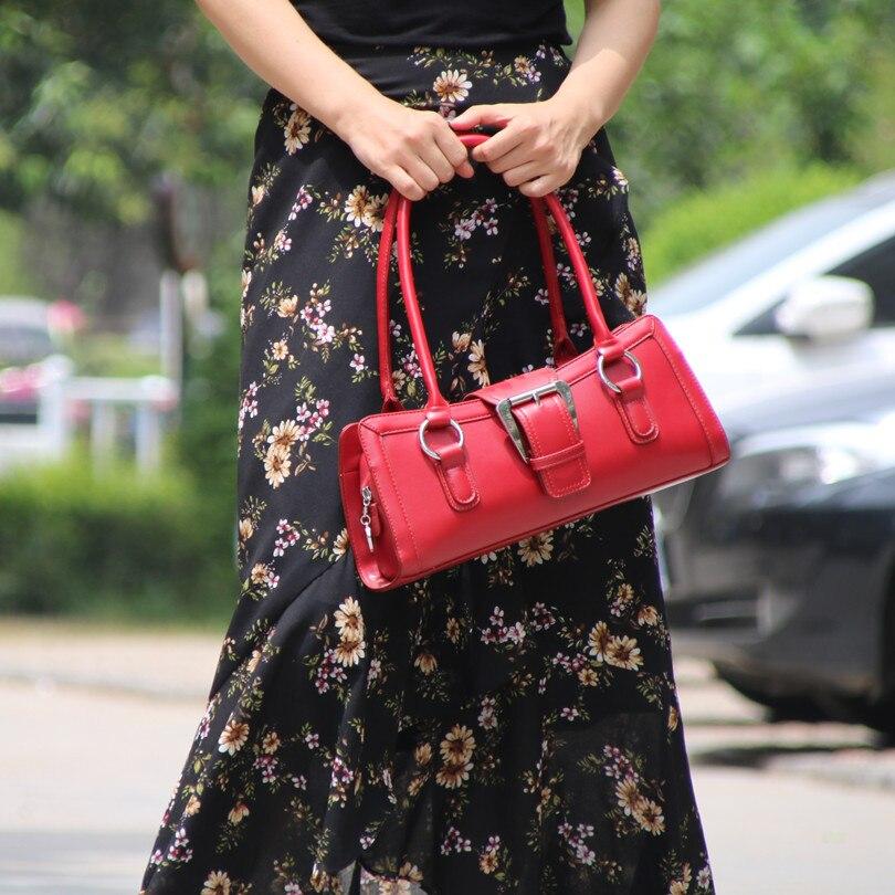 Leather Women Bag\Handbags Retro Tote Bag Fashion Simple Ladies' Shoulder Bag~Quality Guaranteed~17B4