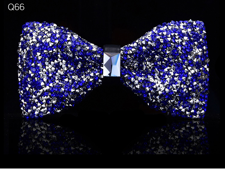 New bow tie crystal bling butterfly knot for men wedding banquet feast club party bridegroom shinning 12