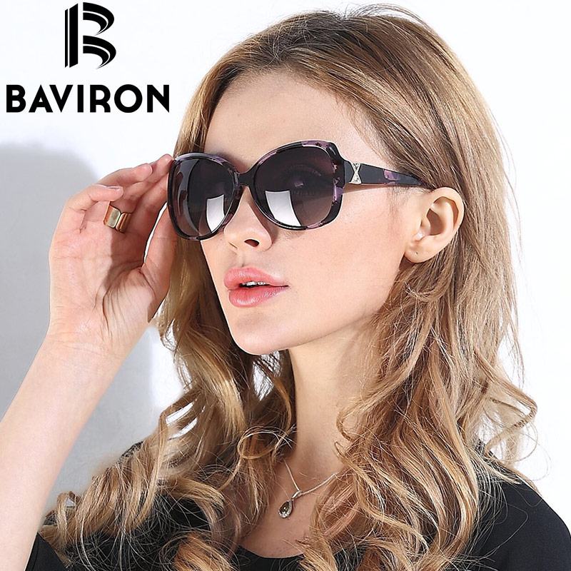 BAVIRON City Eye Tortoise Sunglasses Women Polarized Lenses Glasses Retro Sunglasses Style Gradient Colors Rays UV400 Oculos