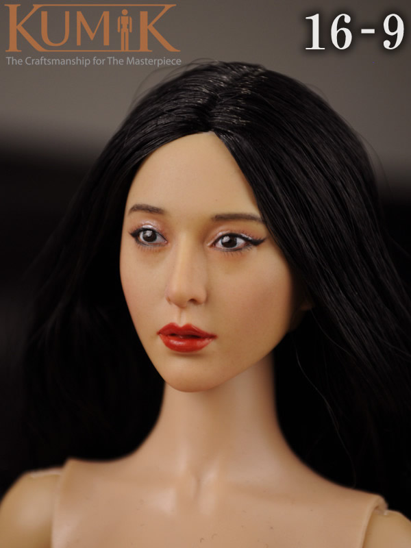 KUMIK 16-9 1:6 Scale female Figure accessories head shape carved for 12 Action figure doll,not include clothes;body and other cheap hot 1 6 kumik fs 16 female shoes boots black color for 12 figure body toys accessories