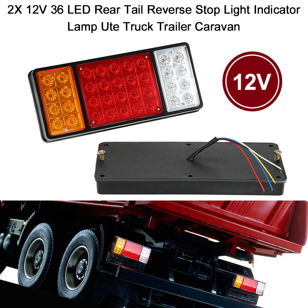 Car Styling 2X 12V 36 LED Rear Tail Reverse Stop Light Indicator Lamp Ute Truck Trailer