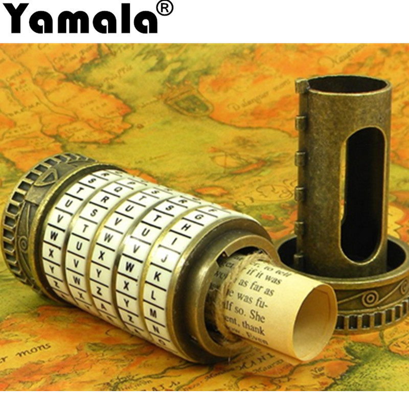 [Yamala] Leonardo da Vinci Educational toys Metal Cryptex locks gift ideas holiday Christmas gift to marry lover escape chamber конструкторы bridge требушет leonardo da vinci