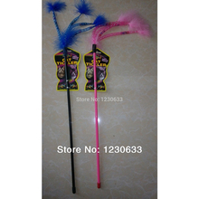 2017 New Top Grade Plastic Rod And Feather Wand Cat Funny Cat Playing With A Favorite Toy Overflow Pet Toy 10