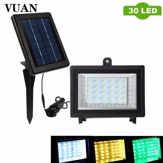 Solar Überflutet Led Lampe 30 LEDs Solarbetriebene Lampe Im Freien ...