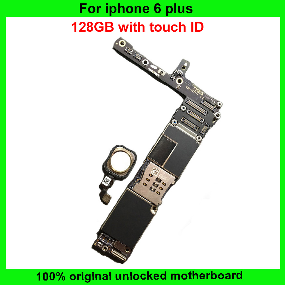buy online 73230 b11c8 US $95.9 |100% Working 128GB Unlocked For Iphone 6plus 6 Plus Motherboard  Original Mainboard With / without touch ID IOS system board-in Mobile Phone  ...