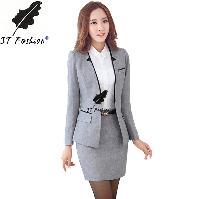 Office uniform designs women skirt suit 2016 ladies for Office uniform design 2016