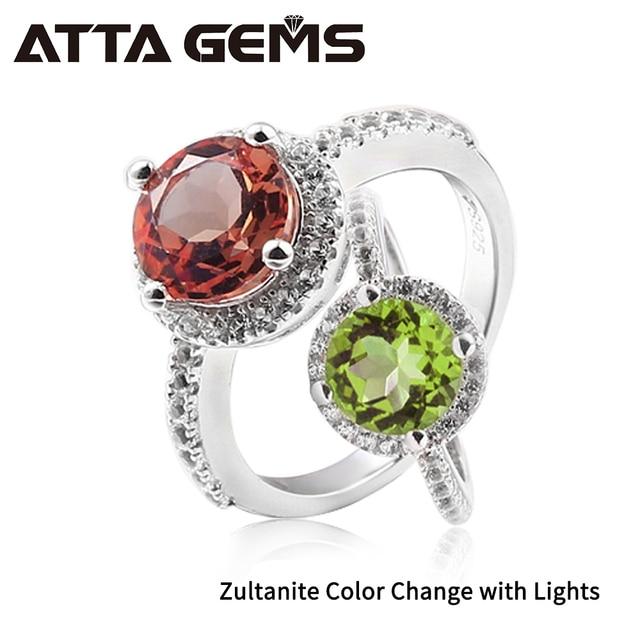 Zultanite Серебряное Кольцо женское модное серебряное ювелирное изделие 2,3 карат, созданное Diaspore Стерлинговое Серебрянное обручальное кольцо, камень изменения цвета