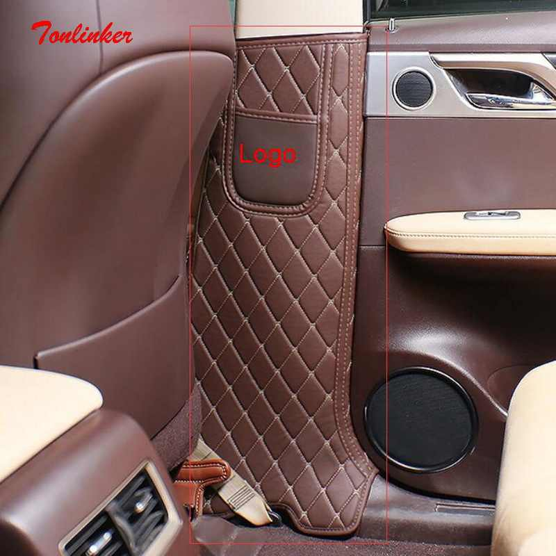 Tonlinker Cover Case Stiker untuk LEXUS 2016 RX NX Ialah Mobil Styling 2 Pcs PU Leather Door Post Anti-kotor Pad Cover Case Stiker