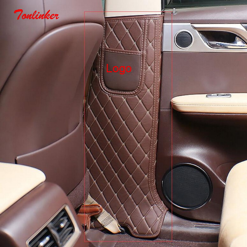 Tonlinker Cover case Sticker For LEXUS 2016 RX NX ES Car styling 2 Pcs PU  Leather Door post Anti