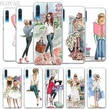 Paris Girl Summer Legs Travel Relax Beach Case Cover for Samsung Galaxy A30 A40 A50 A70 A6 A8 Plus A7 A9 2018 M30 Phone Coq