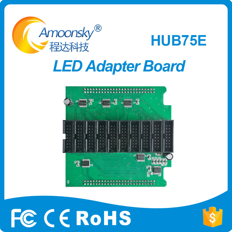 Full ColorLED Display Conversion Card Hub75E Adapter Board Support 1/2, 1/4, 1/8, 1/16, 1/32 Scan