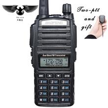 Baofeng уф-82 рация dual band укв портативный двухстороннее радио CB Радио FM Приемопередатчик С PIN PTT Спикер Микрофон