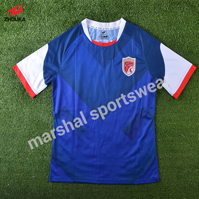 43eadd3a6b2 Hot sale design new football jersey full sublimation custom OEM 100%  polyester New Style Grade Original Sublimation Customied