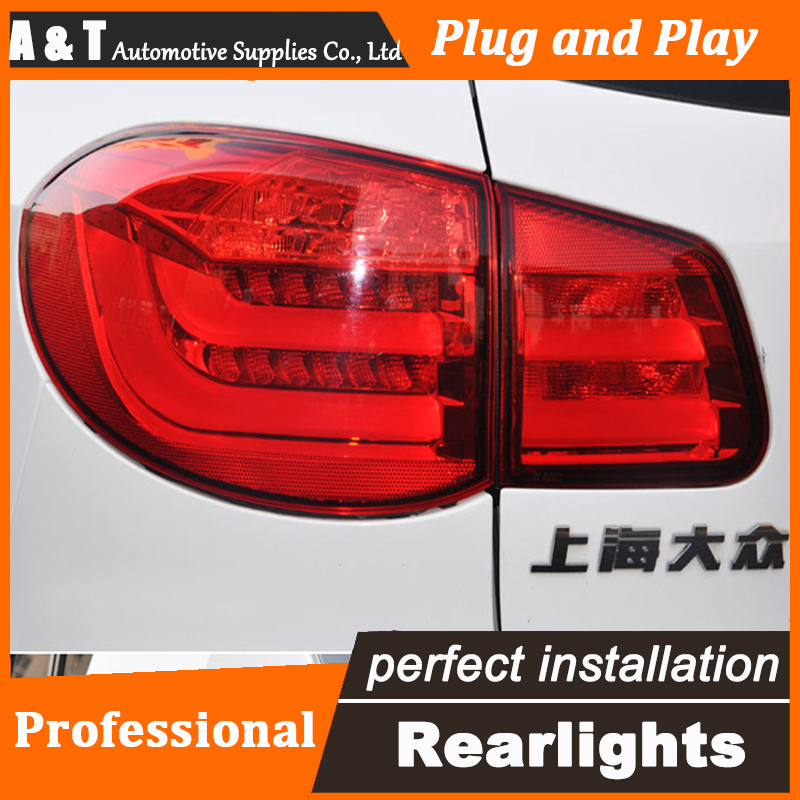 Car Styling for VW Tiguan Taillights 2010-2014 Tiguan LED Tail Lamp Rear Lamp LED DRL+Brake+Park+Signal led light jgrt car styling for vw tiguan taillights 2010 2012 tiguan led tail lamp rear lamp led fog light for 1pair 4pcs