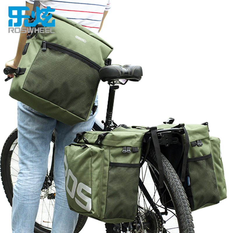 ROSWHEEL Bicycle Bike Bags High Capacity 37L MTB Road Bike Rack Bag 3 in 1 Multifunction