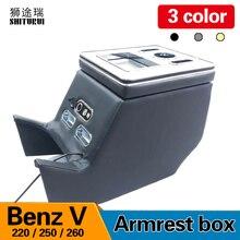Для Mercedes-Benz v-класс V220 V260 V250 W447 подлокотник коробка для хранения задний поручень коробка для зарядки мобильного телефона USB держать руки воды