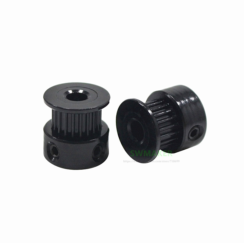 2pcs Synchronizing Wheel Timing Pulley GT2 20 Teeth Support Timing Belt GT2 For Creatity Ender-3 3D Printer Accessories