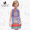 monsoon Girls Dresses Summer  Baby Girls Clothes Kids Dresses Lemon Print Princess Dress Girl Party Cotton Children Dress51