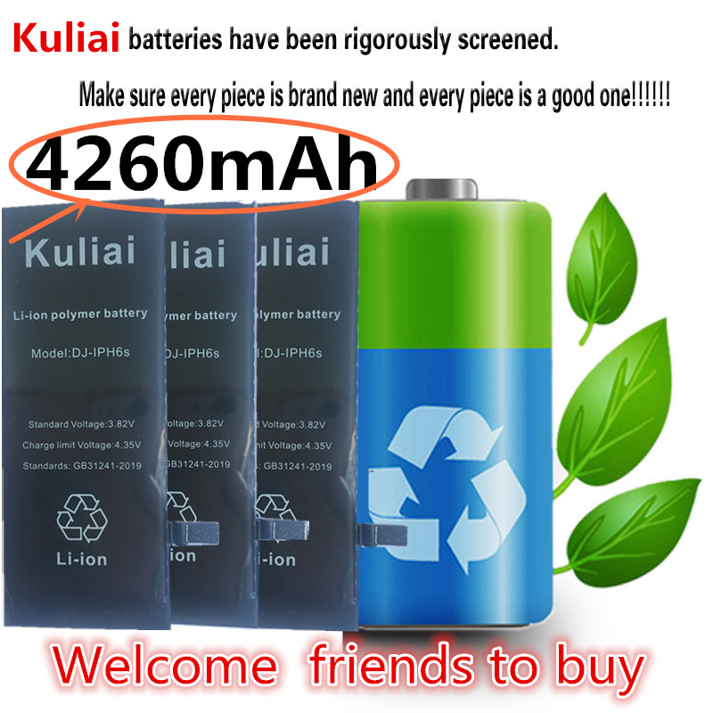 Image 2 - Kuliai オリジナル携帯電話のバッテリー iPhone 6 6 s 6 s プラス 7 5 交換バトリー高容量 4260 mah の内蔵 Bateria の -    グループ上の 携帯電話 & 電気通信 からの 携帯電話電池 の中