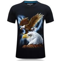 New Harajuku Men T Shirt Eagle Prints Tshirts Men Summer Hip Hop Hipster 3D T Shirt