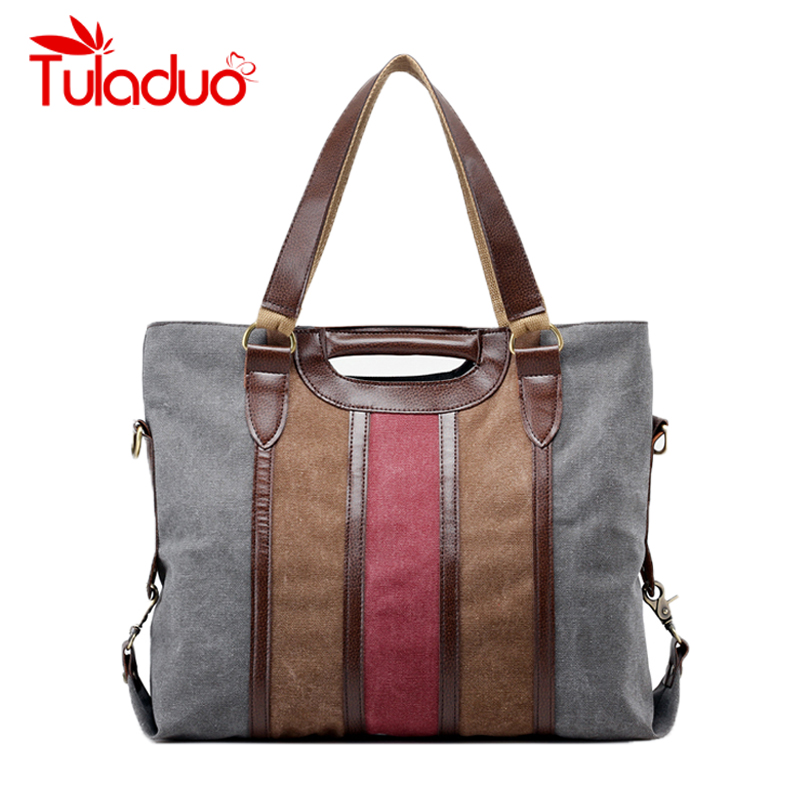Women Canvas Patchwork Handbag High Quality  Brand Luxury Ladies Tote Bags Big Casual Shopping Female Shoulder Bag Bolsos Mujer