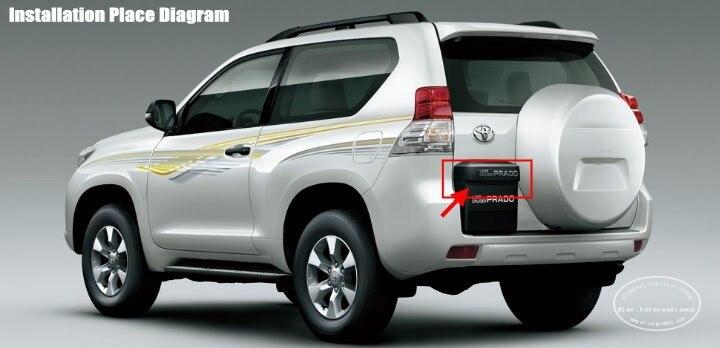 Резервная парковочная камера для Toyota Land Cruiser Prado 2700/камера заднего вида/4000 лампа номерного знака OEM/ночное видение