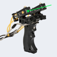 Laser targeting Slingshot Hunting Bow Outdoor Powerful Slingshot high end Rubber Bands Folding Wrist Slingshot Catapult Outdoor