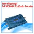 Pantalla LCD! 2G 3G repetidor Amplificador de Señal WCDMA 3G Amplificador de Señal de Teléfono Móvil 2100 Mhz Repetidor de Señal