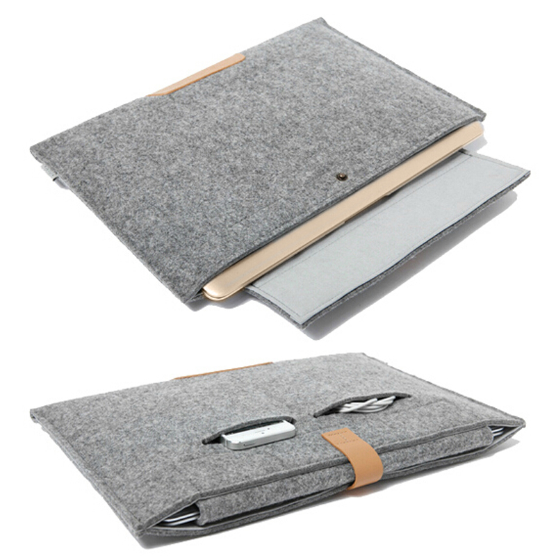 11.6 13.3 15.4 inch Wool Felt Notebook Laptop Sleeve Bag Case For Apple Macbook Air/Pro/Retina 11 13 15 Laptop Bag Cover Case new notebook case bag for macbook air 13 pro 15 case retina 13 3 15 4 cover women men laptop bag 13 15 inch with power bag