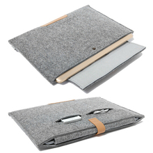 11 13 15 inch Wool Felt Notebook Laptop Sleeve Bag Case For Apple Macbook Air/Pro/Retina Cover
