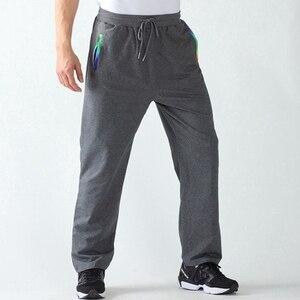 Image 4 - Los hombres de la primavera pantalón sudadera deportiva de talla grande gran 6XL 7XL 8XL 9XL negro Hombre Pantalones de cintura elástica simple Pantalón recto