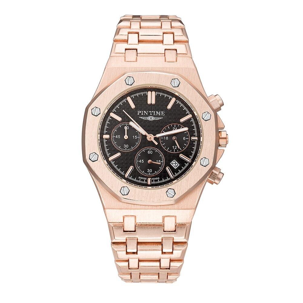AP 1 alta calidad de la manera de los hombres reloj deportivo movimiento de cuarzo todos punteros Trabajo cronógrafo reloj Relogio Masculino regalo