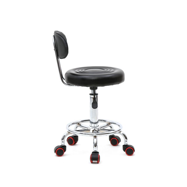 Round Shape Adjule Salon Stool With Back Swivel Chair Dropshipping