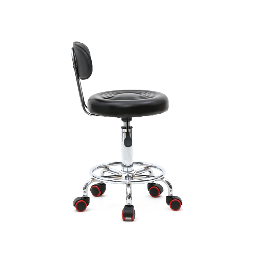 US Round Shape Adjustable Salon Stool with Back Swivel chair Dropshipping