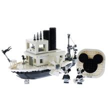 Ideas Willie Movie Series Model Building Kits Compatible with LegoINGlys Ideas Disneying 3D Bricks Figure Kids Toys Gift 16024 534pcs ideas movie series the big bang theory building blocks bricks toys compatible with legoings 21302