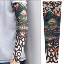1 Pcs Man Tattoo Designs Nylon Elastic Sleeve Arm Stockings Body Art full arm Design Sunscreen