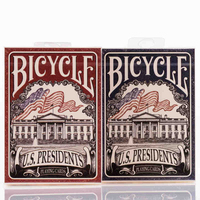 1 Deck U S Presidents Bicycle Playing Cards Red Or Blue Poker Size USPCC Sealed Magic
