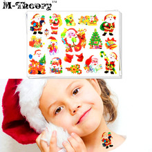 M-theory Christmas Temporary Makeup 3d Tattoos Sticker Toy Henna Tatuagem Body Art Tatto Flash Tatoos Sticker Party Makeup Tools