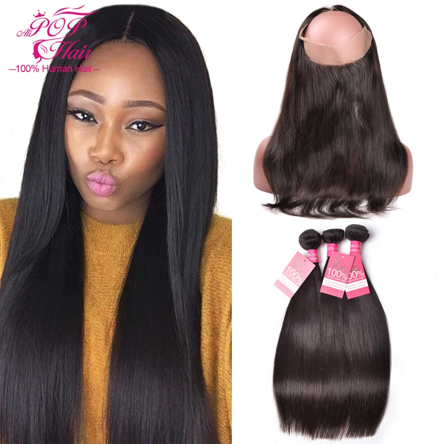360-Lace-Frontal-Closure-With-Bundles-Malaysian-Virgin-Hair-360-Lace-Frontal-With-Bundle-Pre-Plucked