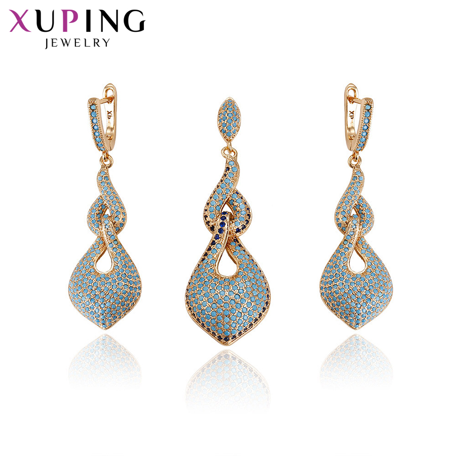 11 11 Deals Xuping Fashion Elegant 2 Pieces Set With Synthetic CZ Jewelry for Women Halloween