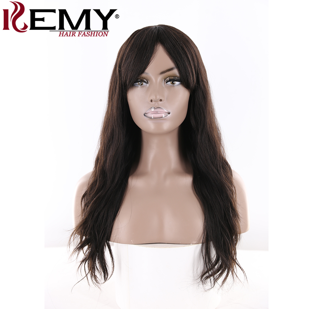 KEMY HAIR FASHION Natural Wave Human Hair Wigs 22 168G Skin Middle Part Natural color Lo ...